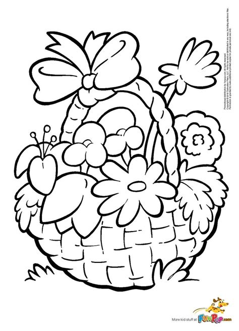 coloring pages of flower baskets flower basket coloring page free printable coloring