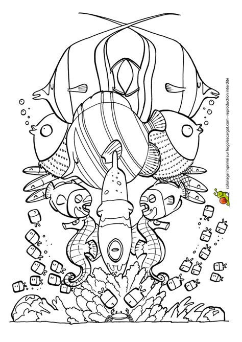 Coloriage totem poisson avril sur Hugolescargot.com