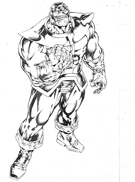 marvel thanos coloring pages thanos by capocyan arvin on deviantart lineart thanos