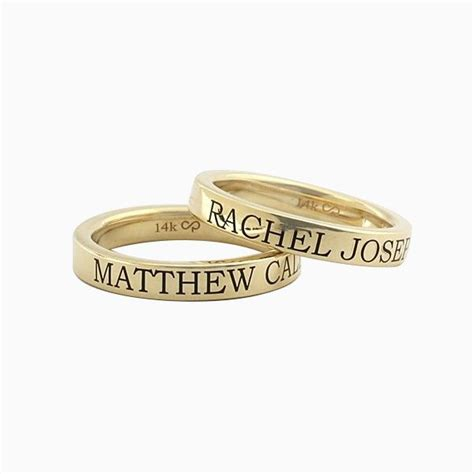 buy crafted custom engraved stackable name rings