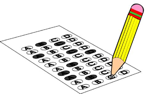 printable art test standardized testing clipart