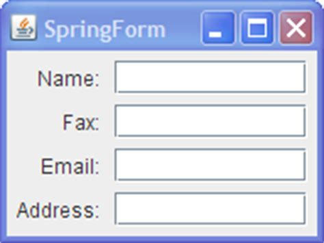 simple swing application how to use springlayout the java tutorials gt creating a