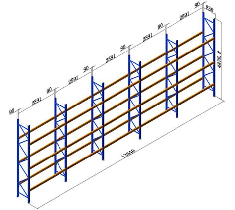 Pallet Racking Calculator by Pallet Racking New 5 Bays 4877mmh Dexion Comp Storage Shelving