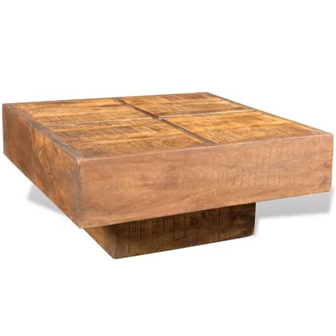 Square Wooden Coffee Table Vidaxl Co Uk Brown Antique Style Square Mango Wood Coffee Table