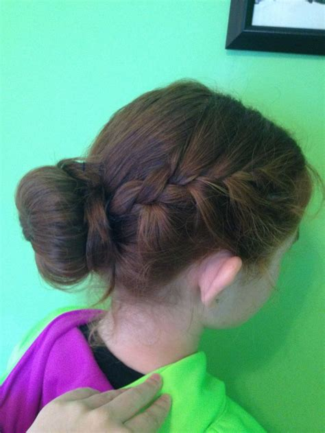 diy sock bun with braid braid sock bun diy hairstyles