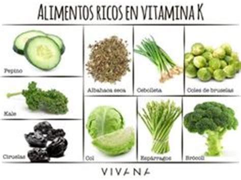 vitamina k en que alimentos se encuentra tabla de alimentos con vitamina k que pueden interferir