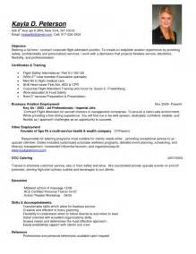 examples of resumes for flight attendants resume