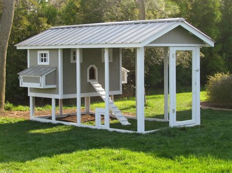 Penthouse Chicken Coop Craftsman Exterior Other by Carolina Coops