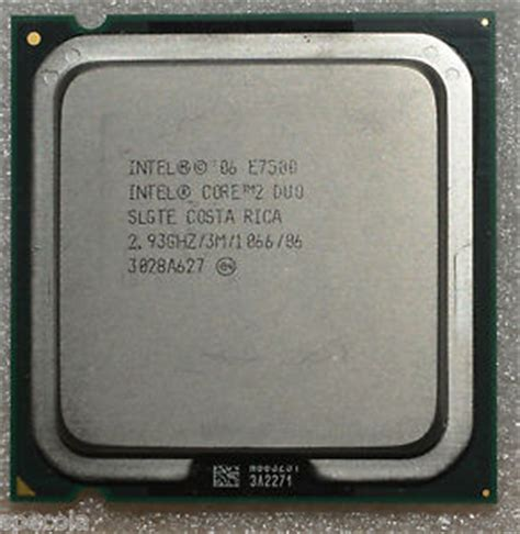 Processor E7500 intel 2 duo e7500 2 93 ghz dual slgte processor unboxed cpu only ebay