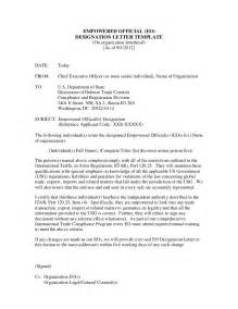 Appointment Letter Government Official Empowered Official Appointment And Designation Letter