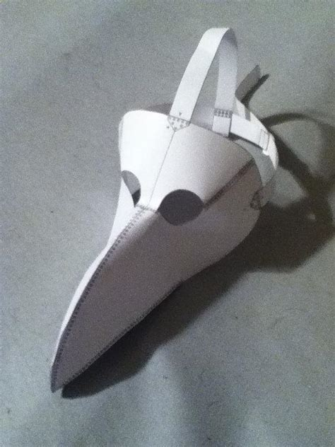 How To Make A Plague Doctor Mask With Paper Mache - plague doctor mask pattern by bifbuzz craftsy