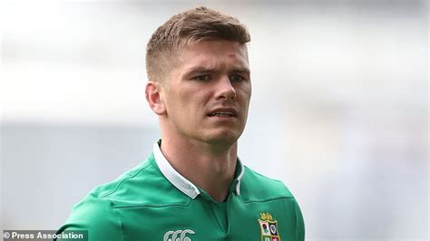 farrell on the bench owen farrell a doubt for first lions test after suffering quad injury daily mail online
