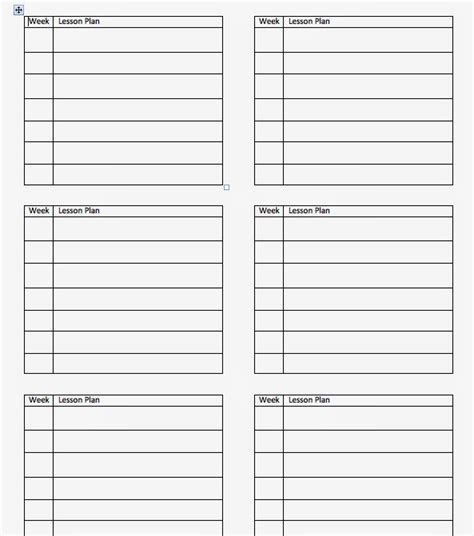 6 week lesson plan template come to the side summer how i create