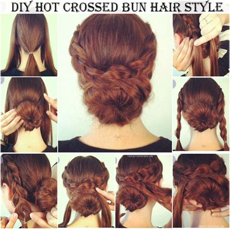 how to make hairstyles at home videos diy hot crossed bun hair style diy comfy home
