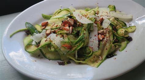 Inspired Side Salad With Zucchini Pecorino by Zucchini Ribbon Salad With Pecorino Romano Almonds And