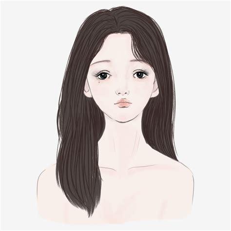 desenho cabelo vector de soprar o cabelo comprido a senhora de cabelo