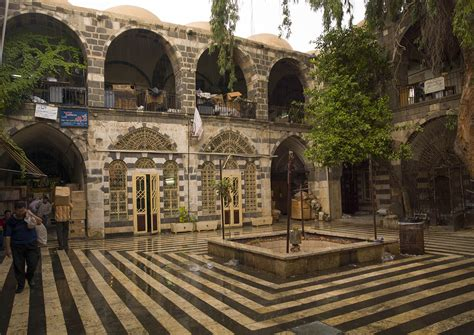House With Moat by Old House Courtyard Damascus Syria