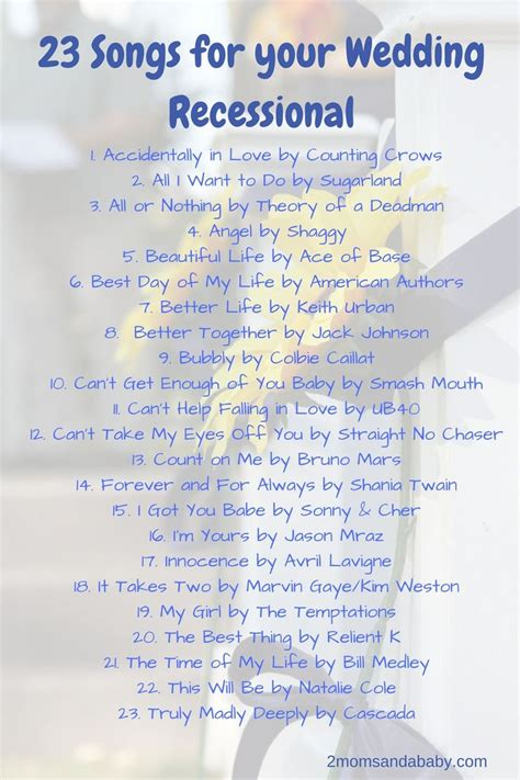 Wedding Ceremony Song List Piano by Wedding Recessional Songs Popular Wedding Autos Post