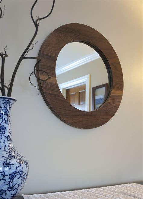 hand   solid walnut  decorative mirror