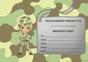 free printable camo birthday party invitations wedding