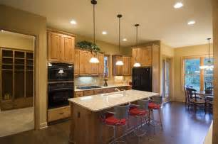 open floor plan kitchen craftsman house plan the house designers