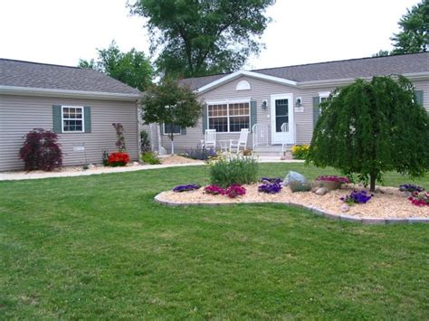 mobile home yard design landscaping ideas for mobile homes mobile manufactured
