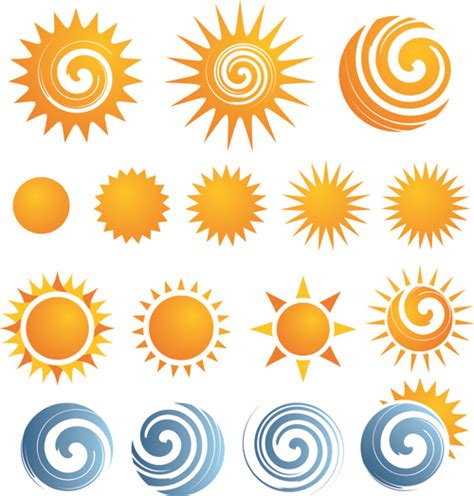 design elements icon sun icons design elements free vector in encapsulated