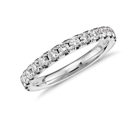 Wedding Bands Without Diamonds by Scalloped Pav 233 Ring In Platinum 1 2 Ct Tw