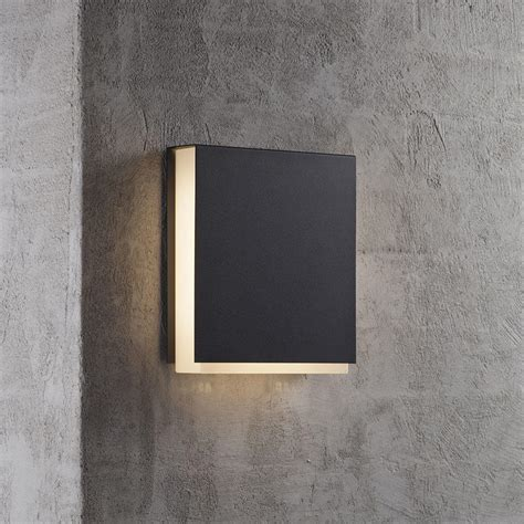 black exterior wall lights buy tamar clips outdoor led wall lighting by nordlux the