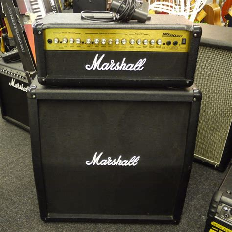 marshall head and cabinet marshall mg100hdfx head and 4x12 speaker cabinet 2nd