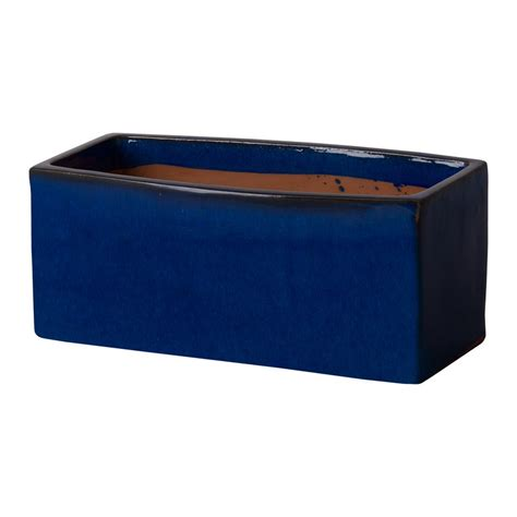 blue planter emissary window box planter blue large