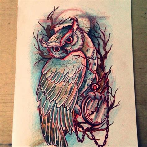 owl tree tattoo designs best 25 owl thigh tattoos ideas on