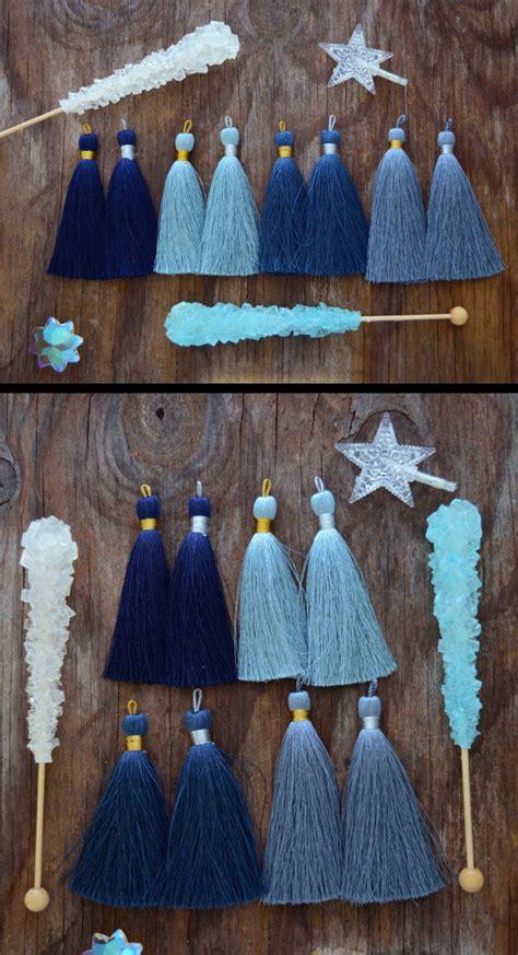 Blus 2pcs Batik Mix Denim blue luxe silk tassel mix 3 quot braided loop
