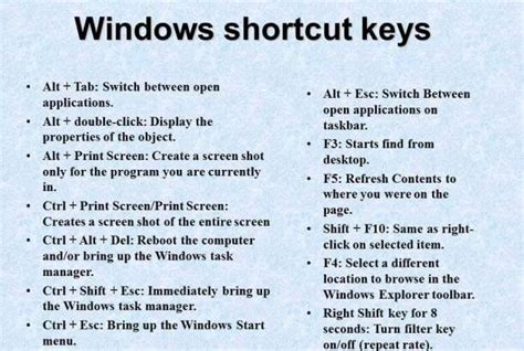 Shortcut keys II Windows shortcut keys II keyboard shortcuts