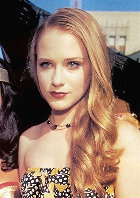 Young Evan Rachel Wood With Her Long Curly Hair