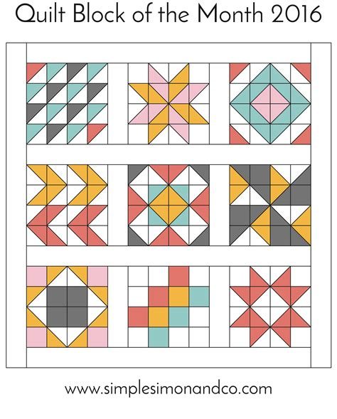 Block Of The Month Quilt Block Of The Month The Flying Geese Block Simple