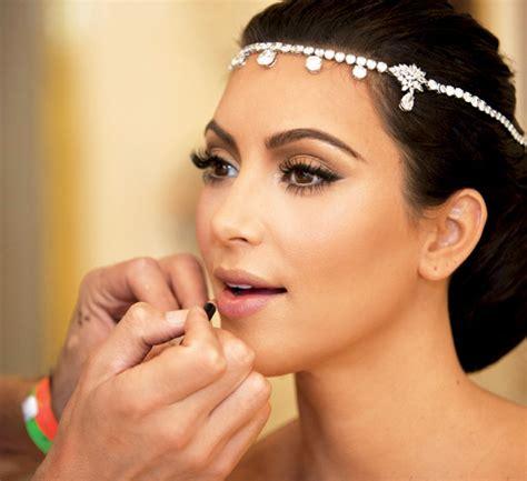 tutorial makeup bridal fashion beauty glamour kim kardashian s wedding makeup