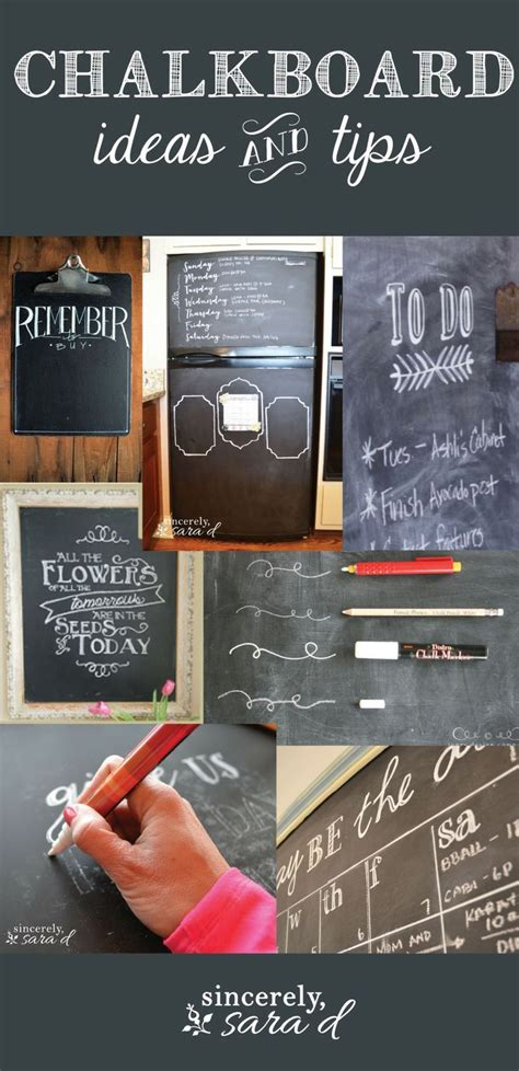 115 Best Images About Chalkboard Tips Tricks On