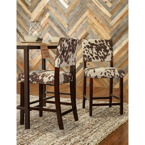Udder Madness Bar Stool by Linon Home Decor Corey 24 In Udder Madness Cushioned Bar