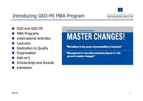 Michigan State Mba Programs by Georg Simon Ohm Mba Program Germany