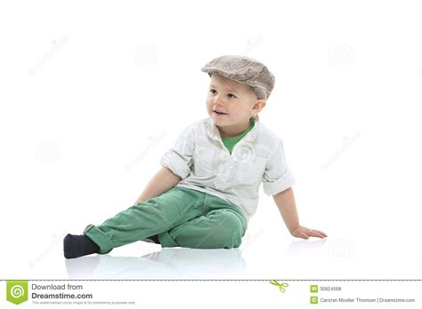 Stylish Design handsome little boy in a cap royalty free stock photos