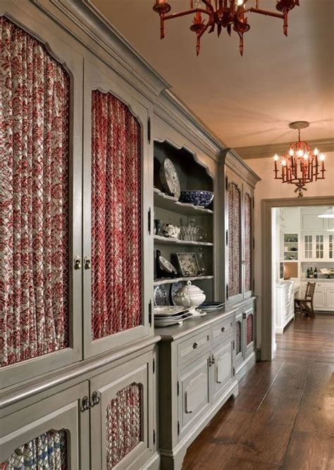 Each cabinet front in this butler?s pantry features a