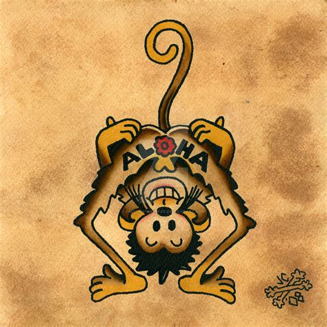 aloha monkey tattoo aloha monkey by brittanymkiefer on deviantart
