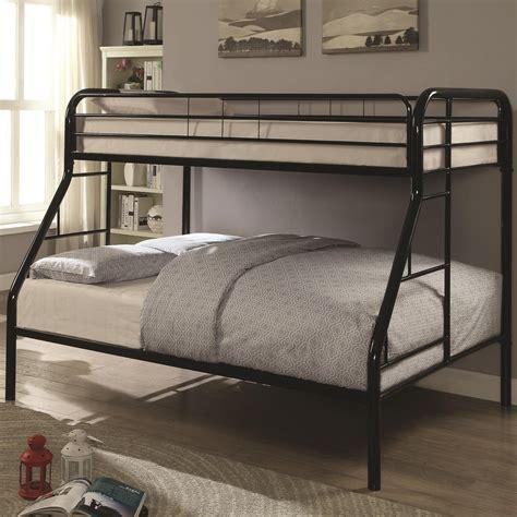 coaster furniture bunk bed coaster metal beds 460378k with side