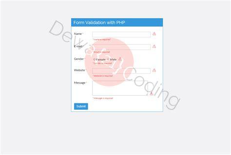 membuat validasi email dengan php cara membuat form validasi dengan php dewa coding 21