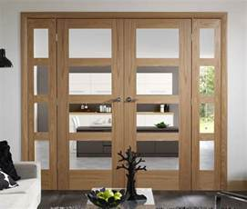 Interior French Doors With Side Panels - interior glass french doors design ideas for your home