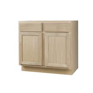 Lowes Unfinished Oak Kitchen Cabinets Shop Continental Cabinets Inc 36 In W X 34 5 In H X 24 In D Unfinished Oak Door And Drawer