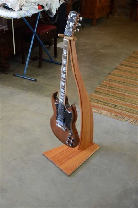 woodworking guitar stand free picnic table plans guitar wood projects