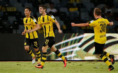 christian pulisic goal union berlin dortmund 1 1 man city pens 5 6 pep guardiola s side
