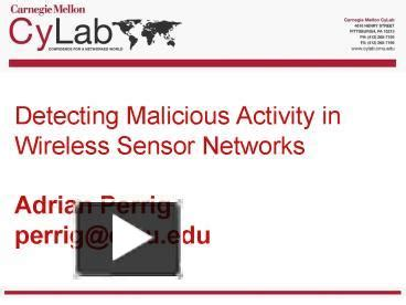 ppt templates for wireless sensor networks ppt detecting malicious activity in wireless sensor
